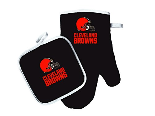 Pro Specialties Group NFL Cleveland Browns Oven Mitt & Pot Holder Set