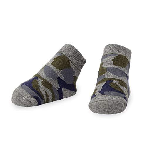Mud Pie Baby Boy 0-12 Months Gray Camouflage Camo Socks