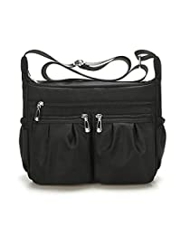 SHINON Crossbody Bags for Women,Multi Pocket Shoulder Bags, Lightweight Nylon Waterproof Casual Travel Purse Messenger Bags.