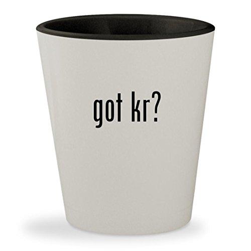 got Kr? - White Outer & Black Inner Ceramic 1.5oz Shot Glass