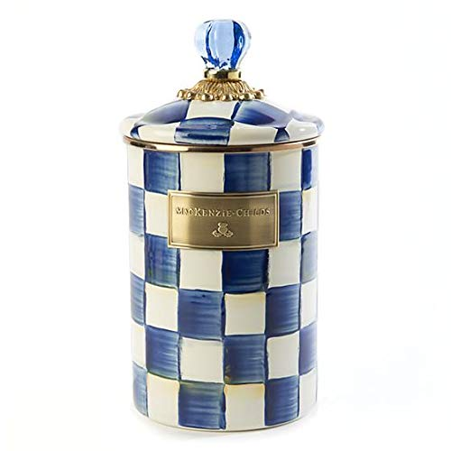 MacKenzie-Childs Royal Check Enamel Canister - Large