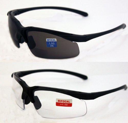 global vision set of 2 apex 1 5 bifocal safety glasses