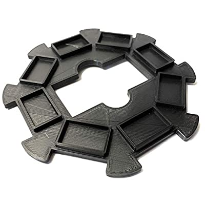 Volareo Mexican Train Hub - Black - Replacement Hub Centerpiece for Mexican Train Dominoes: Toys & Games