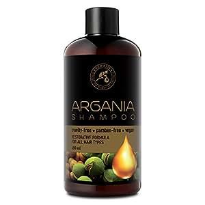 Aceite de Argan 480ml - Shampoo con Aceite de Argán Natural y Extractos de Hierbas - para Todo Tipo de Cabello - Fórmula Reparadora Especial para Hombres ...