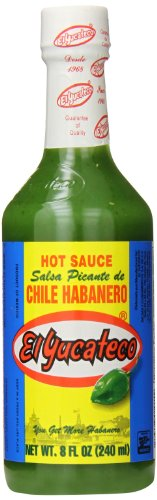 Make a avocado drink recipe with El Yucateco Green Hot Sauce Bottle, Chile Habanero,