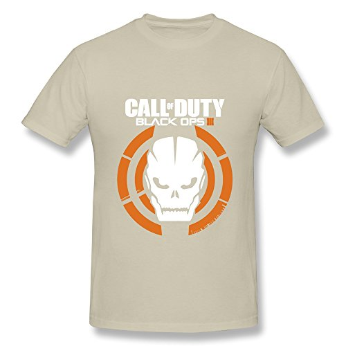 HUBA Men's Tshirt Call Of Duty Black Ops III 3 Natural Size S