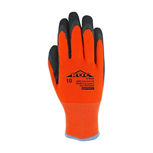Magid Safety Hi-Viz Waterproof Thermal Nitrile Coated Acrylic Work Gloves - Size 11 (1 Pair)