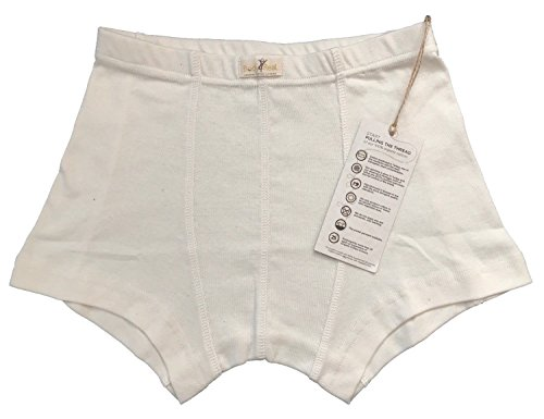 Body4Real Organic Cotton Clothing Herren Boxershort Weiß beige Gr. X-Large, beige