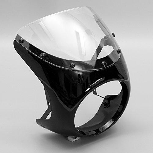 CoCocina 7Inch Motorcycle Headlight Handlebar Fairing Retro Cafe Racer Style Universal - White