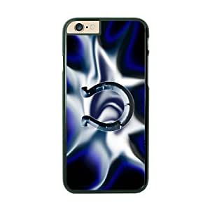 NFL Case Cover For SamSung Galaxy S6 Black Cell Phone Case Indianapolis Colts QNXTWKHE1432 NFL Phone Protective Plastic