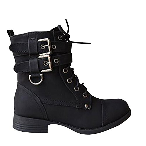 Motorcycle Buckle Boots - 4