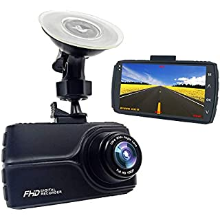 Sale Off E-ACE Dash Cam With GPS 1080p Full HD Car Dashboard Camera 3.0'' IPS Screen Video Recorder With Night Vision 170 Angle WDR G-Sensor Loop Recording Motion Detection Parking Monitoring[Alloy Shell]
