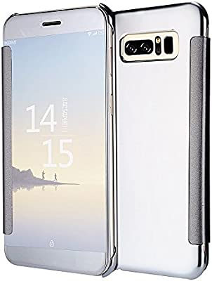 YFZYT Galaxy Note 8 Cubierta Espejo Galvanoplastia, Galaxy ...