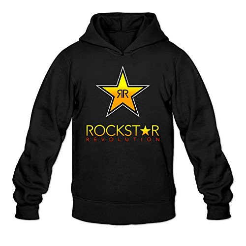 Kittyer Men's Rockstar Energy Drink Long Sleeve Sweatshirts Hoodie (Rockstar Energy Hoodie compare prices)