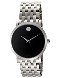 Movado Men's 0606283 Red Label Analog Display Swiss Automatic Silver Watch
