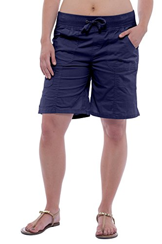 - Alki'i Women's Casual Bermuda Shorts with Roll-up Leg 2140 Navy XL