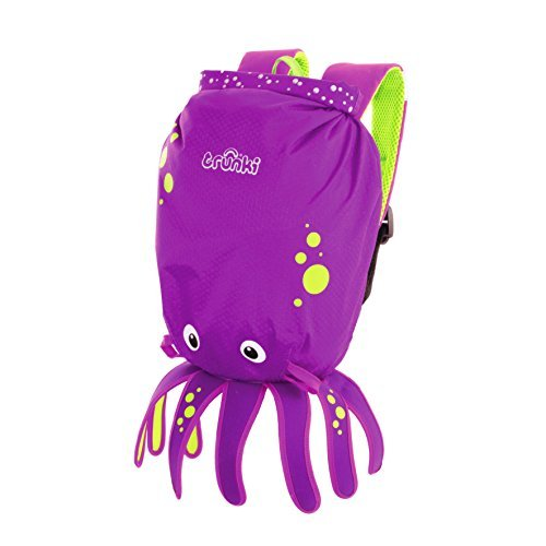 Trunki Paddle Pak Water Resistant Kids Inky Backpack, Purple by Trunki