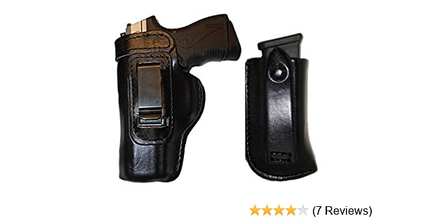 Gun Holster FN FNP FNX FNS 9 40 Pro Carry HD /w Magazine Carrier Right Hand  Outside The Waistband Black Leather