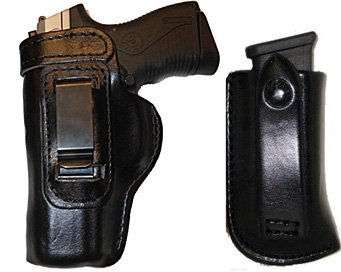 Gun Holster Kimber Ultra Carry II Pro Carry HD /w Magazine Carrier Right  Hand Outside The Waistband Black Leather