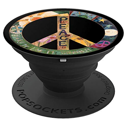 - Psychedelic Peace Sign Symbols Tie Dye Groovy Hippie Art p07 - PopSockets Grip and Stand for Phones and Tablets