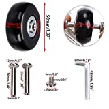OwnMy Luggage Suitcase Replacement Wheels, Rubber