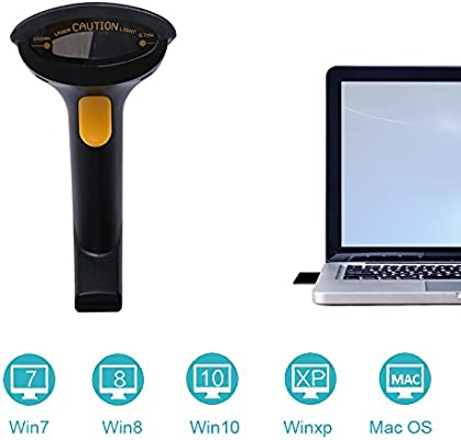 NADAMOO Wireless Barcode Scanner 2 in 1 2 4GHz Wireless and
