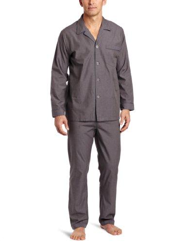 Majestic International Men's Solid Basics Long Sleeve Pajama