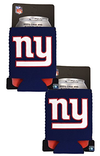 Official National Football League Fan Shop Authentic 2-Pack NFL Insulated 12 Oz Can Cooler (New York (Nfl Beverage Cooler)