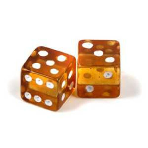 Amber Dice Super Gambler's Gift Gemstone Size 10x10x10mm by Amber by Graciana