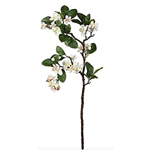 """Artificial Apple Blossom Branch in Light Pink - 27"""" Tall 25"""