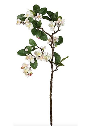 Artificial Apple Blossom Branch in Light Pink - 27