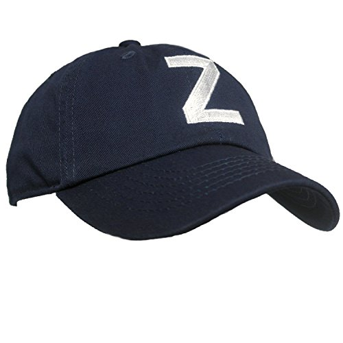 Tiny Expressions Toddler Boys' and Girls' Navy Embroidered Initial Baseball Hat Monogrammed Cap (Z, 2-6yrs) by Tiny Expressions (Image #4)