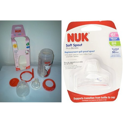 NUK Hello Kitty Silicone Spout 10-Ounce Active Cup with Replacement Silicone Spout