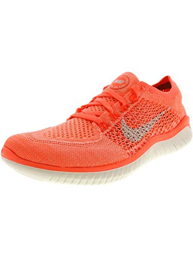 (Nike Womens Free Rn Flyknit 2018 Low Top Lace Up, Crimson Pulse/Sail, Size 8.5)