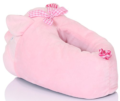 Pantuflas para mujer en 3D diseño de animal Pinky Pig