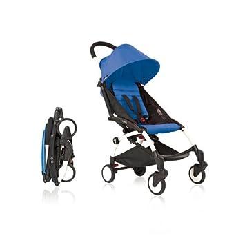 Silla de paseo ultra-compacta (Kg 5,8) Babyzen YoYo Azul - Chasis White: Amazon.es: Bebé