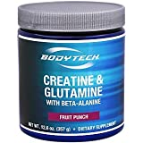Cheap BodyTech Creatine Glutamine with Beta Alanine Fruit Punch Supports Muscle Growth, Recovery Immune Health (12.6 Ounce Powder)