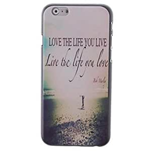 """For iPhone 6 Plus Case, Fashion Love The Life You Live Pattern Protective Hard Phone Cover Skin Case For iPhone 6 Plus (5.5"""") + Screen Protector"""