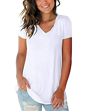 21e6dc10243 Women s Tops Tie Dye V Neck Summer Casual Short Sleeve T Shirts