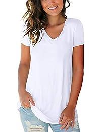 15f0cb05bf7 Women s Tops Color Block V Neck Basic Casual Long Sleeve   Short Sleeve T  Shirts