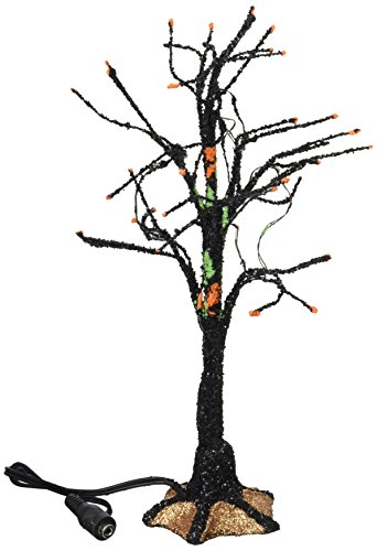 Department 56 Accessories for Villages Halloween Black Light Bare Branch -
