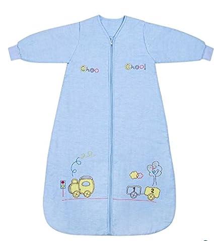 Slumbersac Saco de dormir niño pequeño Invierno manga larga aprox. 2.5 Tog, trenecito,