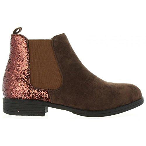 Brown Femme Urban Bottines Pour B098179 b6600 E5q07Xw