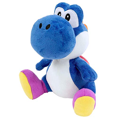 Little Buddy 1388 Super Mario Bros All Star Collection Dark Blue Yoshi Stuffed Plush, 7