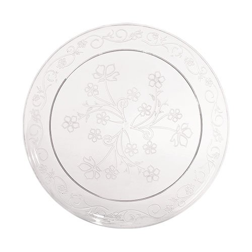 Premium Quality Heavyweight Plastic Plates China Like. Wedding and Party Dinnerware Plastic Plates 20 count, 6.25 inch, Clear ()
