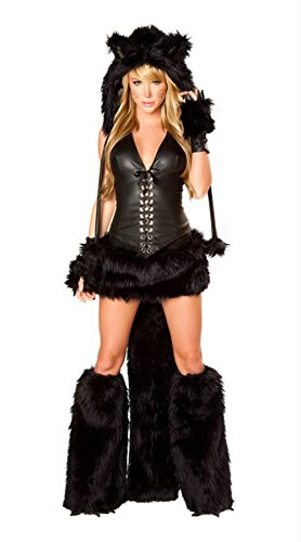 New Adult Sexy Wolf Girl Costume Halloween Furry Costumes For Women Animal Costume Cosplay