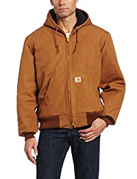 Carhartt Men's Big & Tall Duck Active Jac - Quilted Flannel Lined