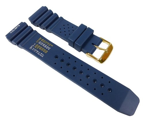 Silikon Sport Ersatzband Uhrenarmband Silikon Band Blau 22331G, Stegbreite:22mm