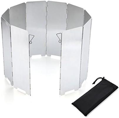 BrilliantDay 10 Stücke Outdoor-Aluminium-Windschutz für Alle Arten von Feuerstellen BBQ Windschutzscheibe