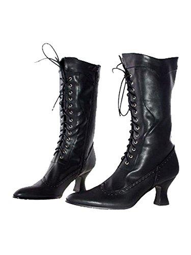 Ellie Shoes Amelia Black Boots (Adult Boots) Women's (Size 7) Women's Costume -